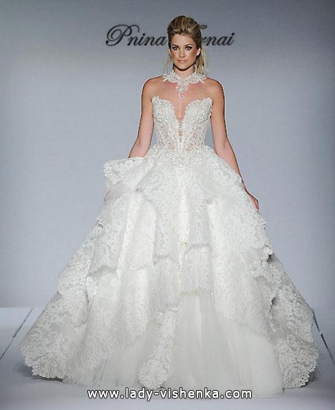 Свадебное платье пышное с кружевом - Pnina Tornai
