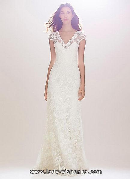 Прямое кружевное свадебное платье 2016 - Carolina Herrera