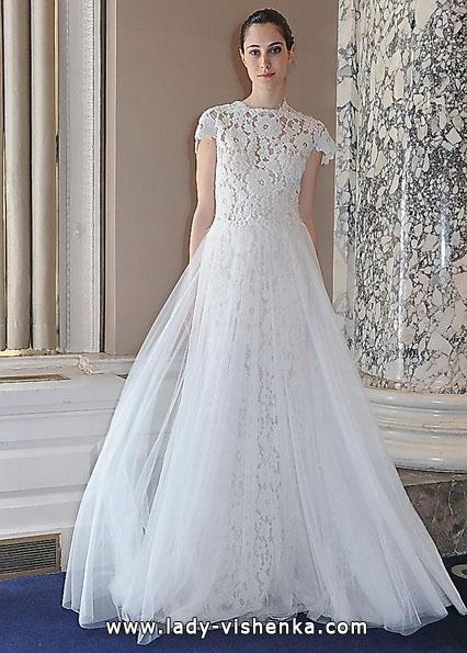 Длинное кружевное свадебное платье 2016 - Christos Costarellos