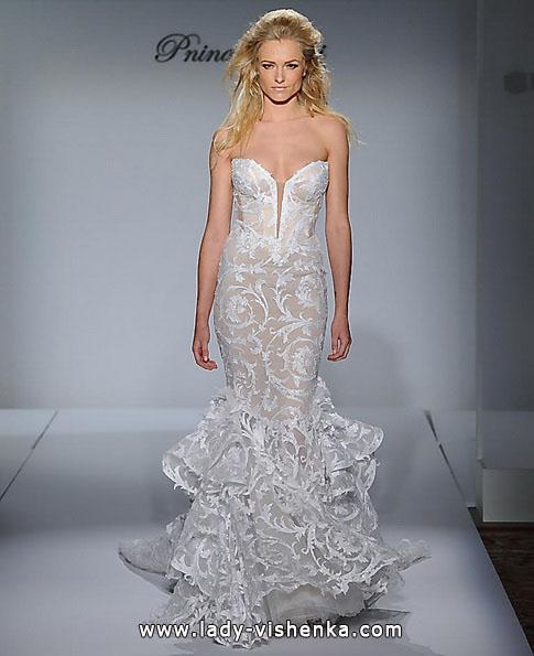 Кружевное свадебное платье - рыбка - Pnina Tornai