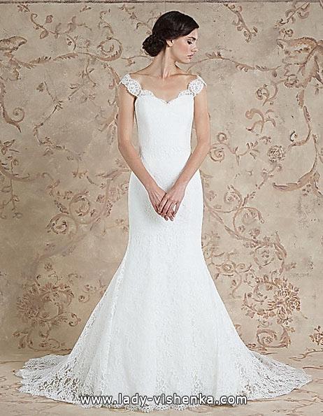 Кружевное свадебное платье - русалочка - Sareh Nouri