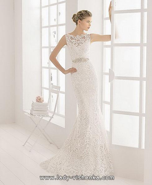 Свадебное платье рыбка с крупным кружевом - Aire Barcelona