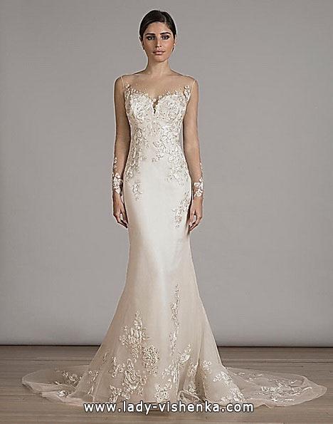 Кружевное свадебное платье рыбка со шлейфом - Liancarlo