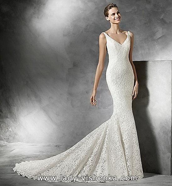 Кружевное свадебное платье рыбка 2016 - Pronovias