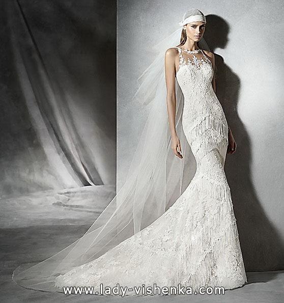 Кружевное свадебное платье русалочка - фото - Pronovias