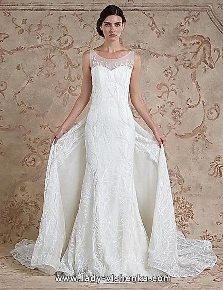 Кружевное свадебное платье рыбка со шлейфом - Sareh Nouri