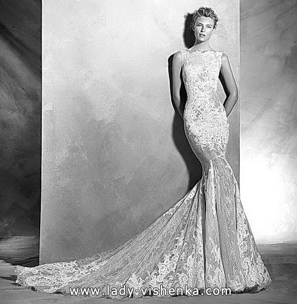 Модное кружевное свадебное платье рыбка - Pronovias