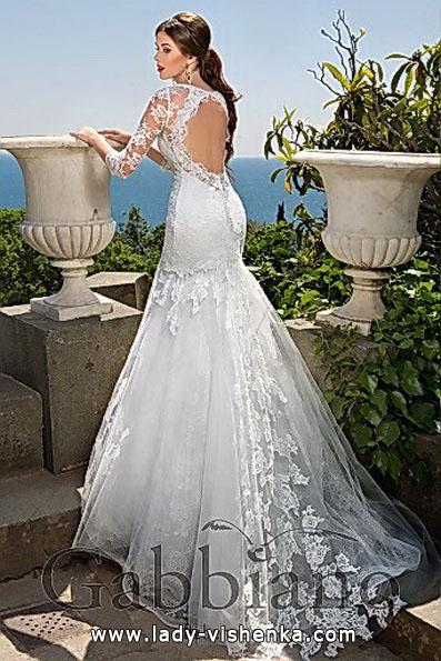 Кружевное свадебное платье русалочка со шлейфом - Gabbiano