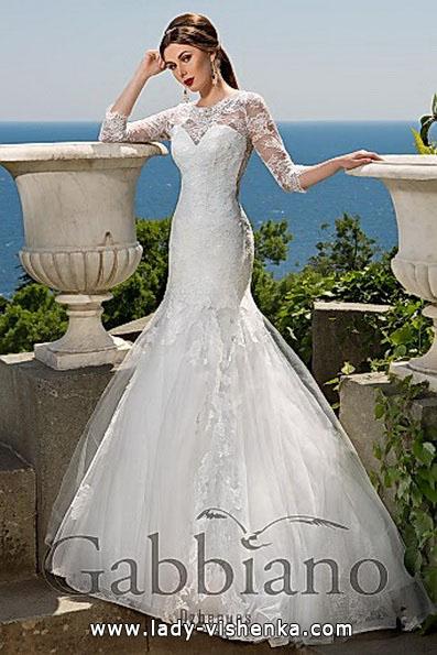 Кружевное свадебное платье рыбка со шлейфом - Gabbiano