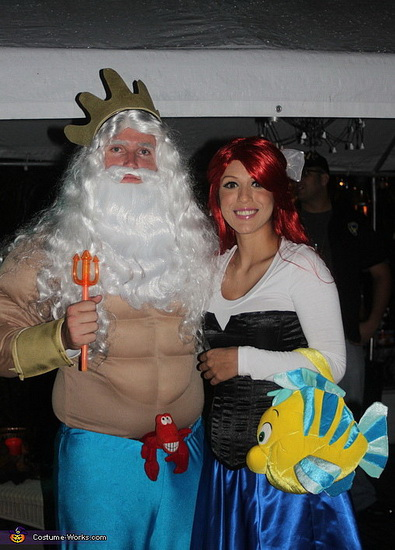 Ариэль и Тритон на Хэллоуин