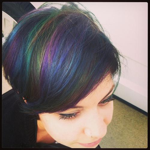 Оригинальный цвет волос - радуга