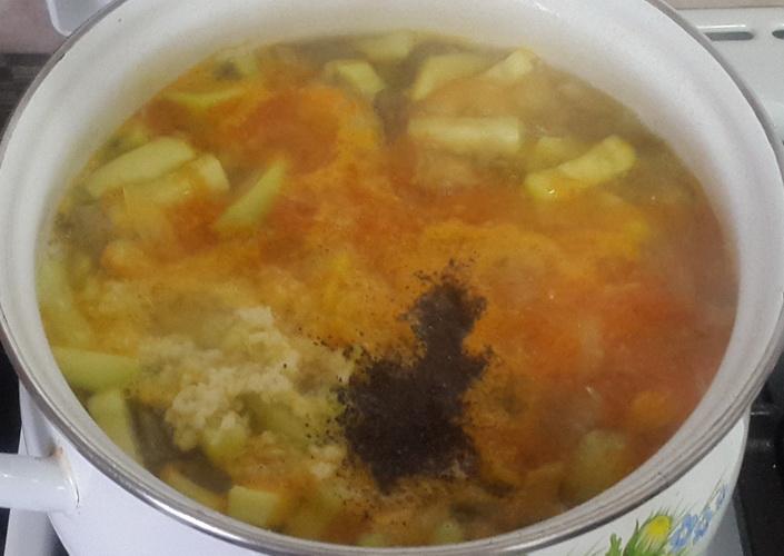 Суп с грибами вишенками - рецепт