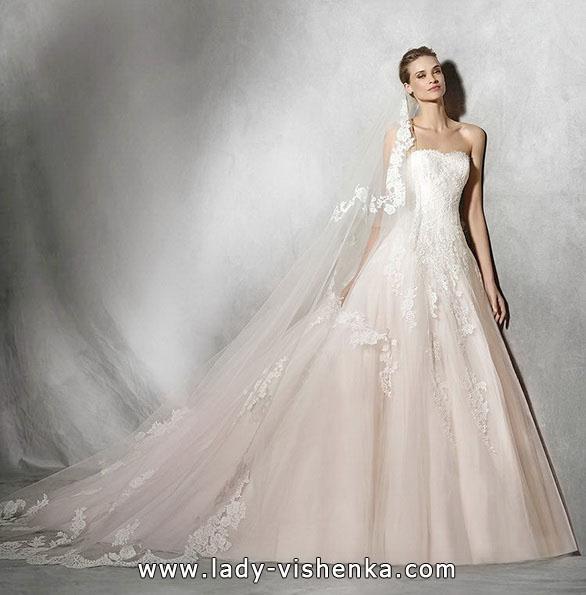 Розовое свадебное платье 2016 - Pronovias