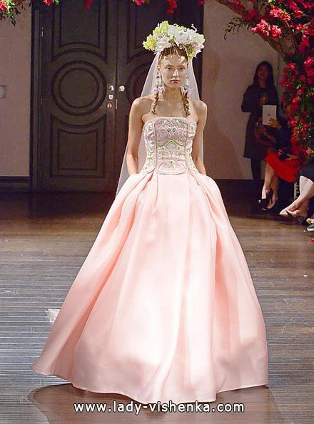 Розовое свадебное платье 2016 - Naeem Khan