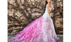 Все розовые свадебные платья 2016