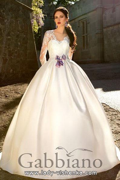 Свадебное платье принцессы с рукавами - Gabbiano