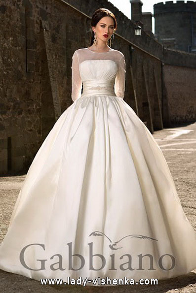 Атласное свадебное платье принцессы - Gabbiano