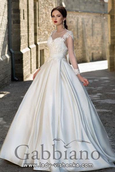 Свадебное платье принцессы с кружевным верхом - Gabbiano