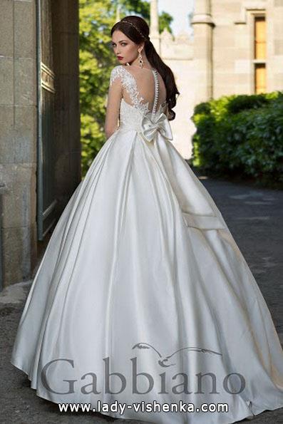 Свадебное платье принцессы с атласным бантом - Gabbiano