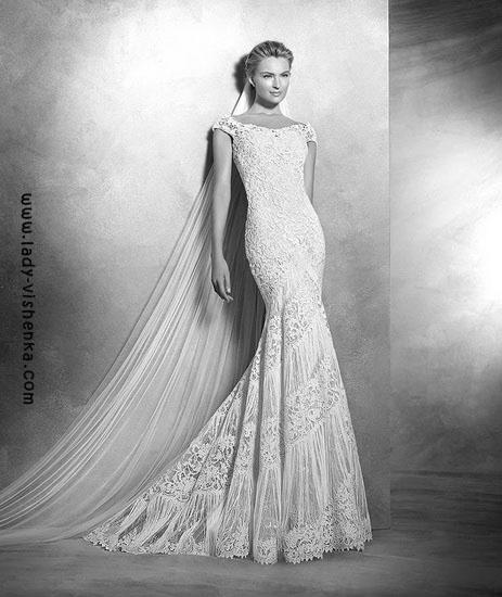 Свадебные платья с кружевом Pronovias