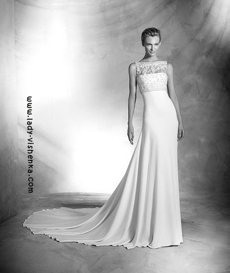 Белое свадебное платье Pronovias