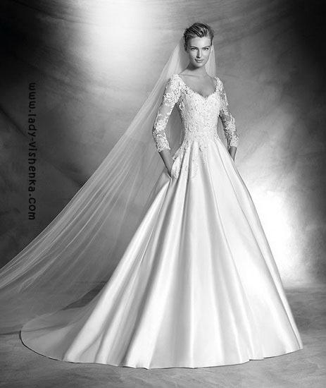 Свадебное платье годе Pronovias
