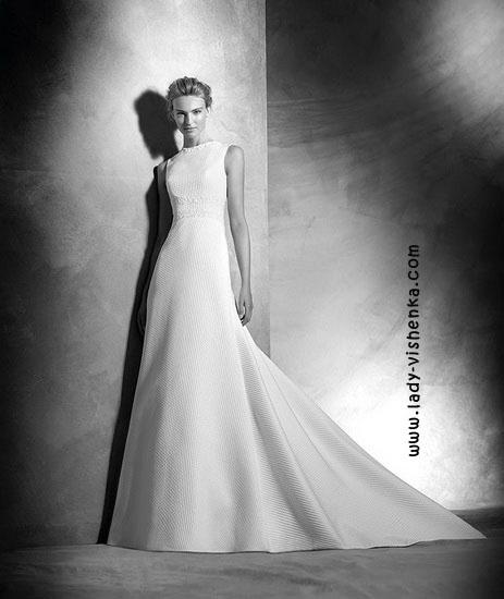 Простое свадебное платье Pronovias