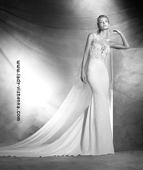 Свадебные платья с кружевным верхом Pronovias