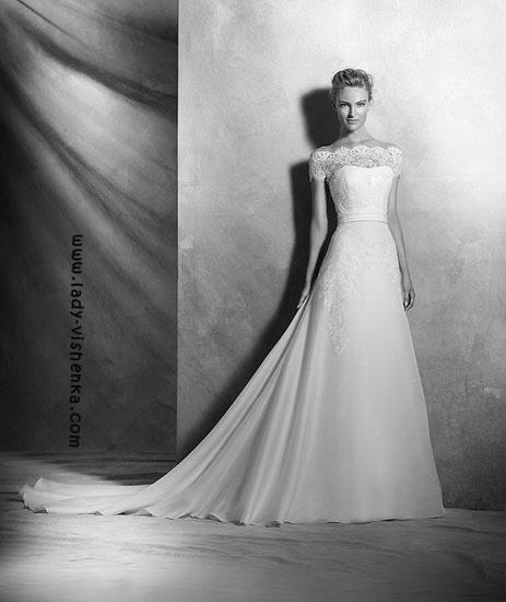 Свадебные платья со шлейфом Pronovias