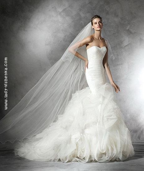 Свадебное платье русалка фото Pronovias