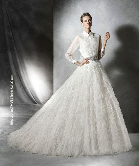 Пышное длинное платье Pronovias
