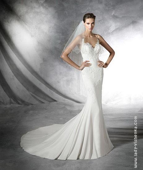 Свадебное платье рыбка фото 2016 Pronovias