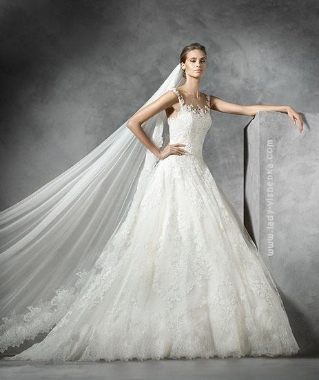 Пышное платье из кружева Pronovias
