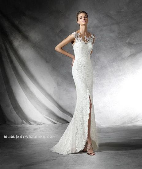 Открытое свадебное платье Pronovias