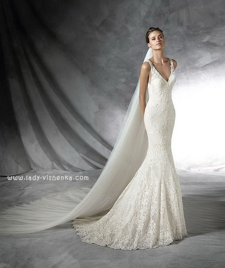 Свадебное платье рыбка фото Pronovias