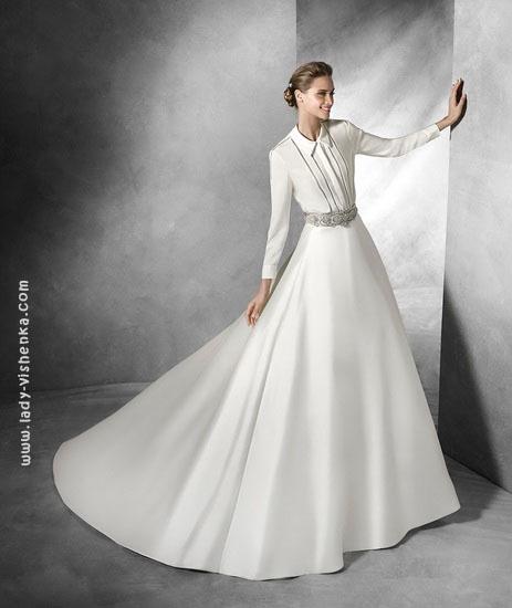 Классическое свадебное платье Pronovias