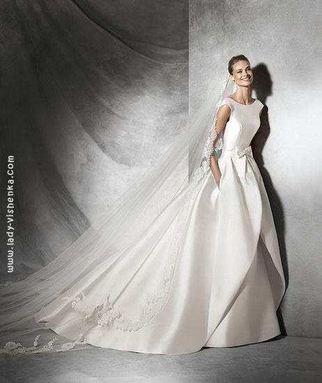 Атласные свадебные платья 2016 Pronovias