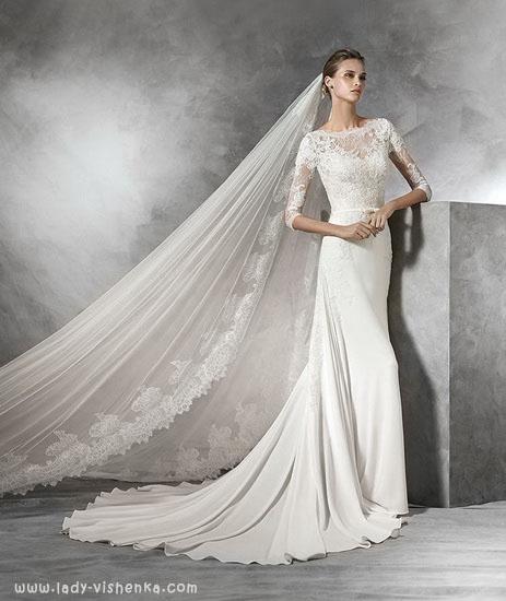 Элегантное свадебное платье Pronovias