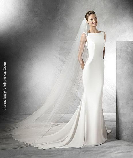 Прямые свадебные платья фото Pronovias