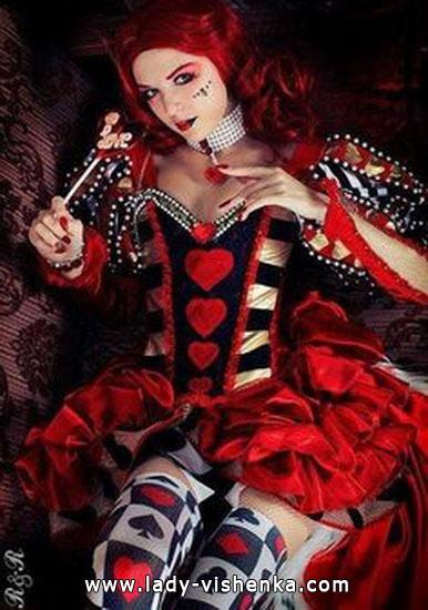 Оригинальный костюм Королевы Червей на Хэллоуин для девушек