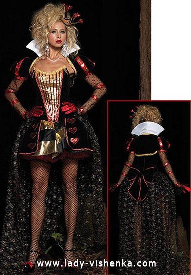 Короткий костюм Королевы Червей