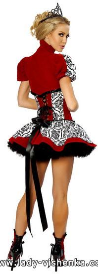 Очень короткое платье Королевы Червей на Хэллоуин