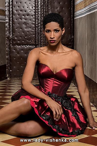 Красное короткое свадебное платье - Jordi Dalmau