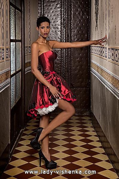 Свадебное платье красного цвета 2016 - Jordi Dalmau