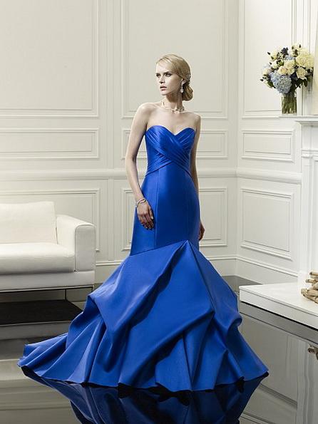 Атласное свадебное платье - русалочка - Celestia