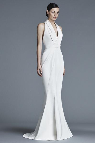 Атласное свадебное платье - русалочка - J Mendel