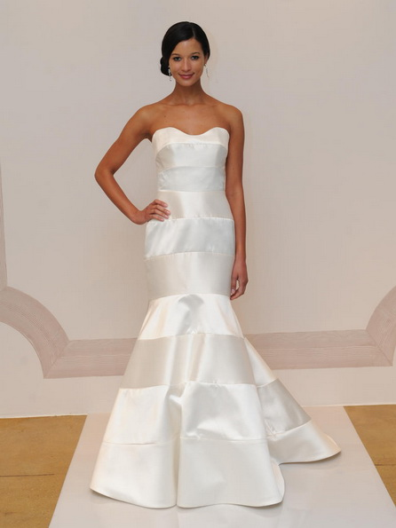 Атласное свадебное платье - русалочка - Judd Waddell