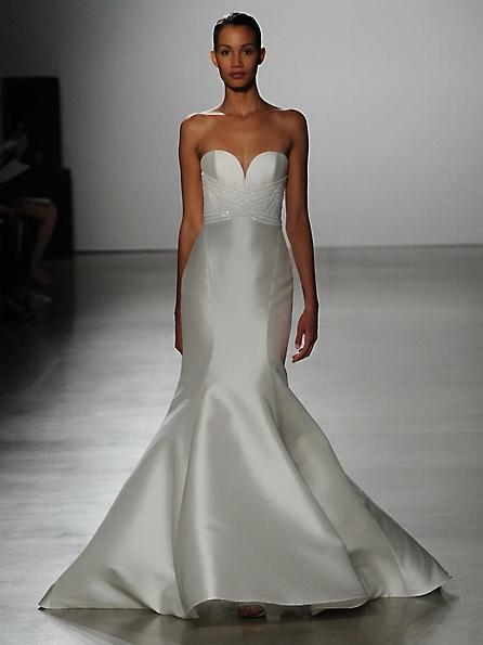 Атласное свадебное платье - рыбий хвост - Kenneth Pool