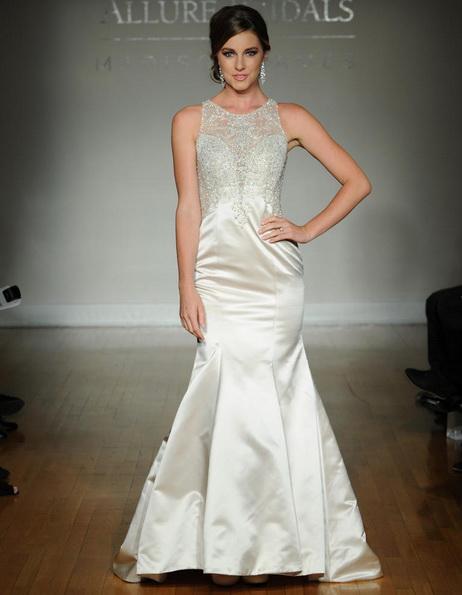 Атласное свадебное платье - русалочка - Allure