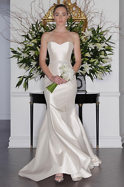 Атласное свадебное платье - русалочка - Romona Keveza